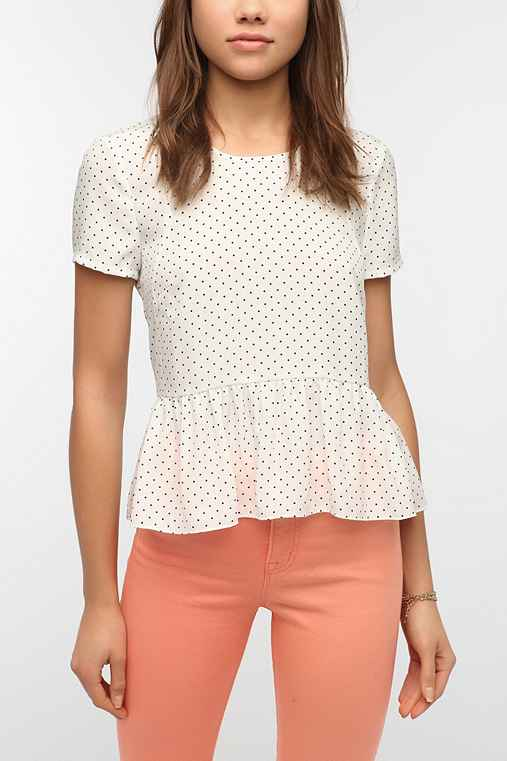 COPE Drop-Waist Peplum Blouse