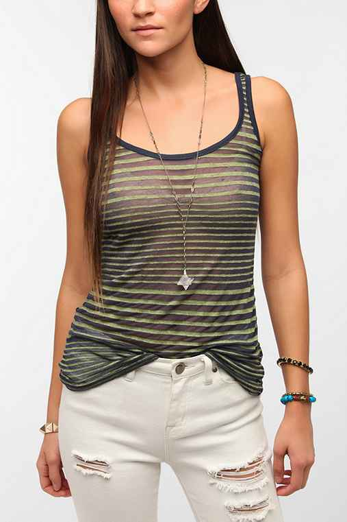 Threads 4 Thought Burnout Stripe Tank Top