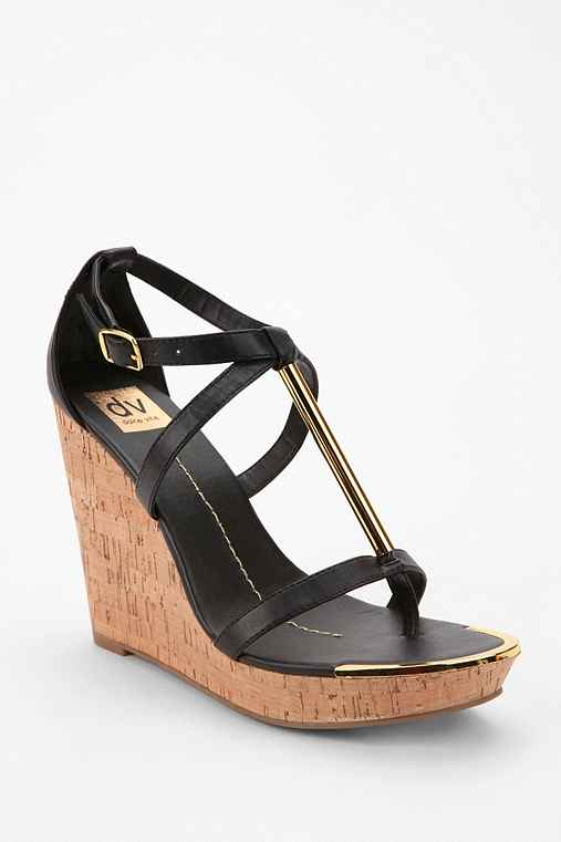 DV By Dolce Vita Tremor T-Strap Wedge Sandal