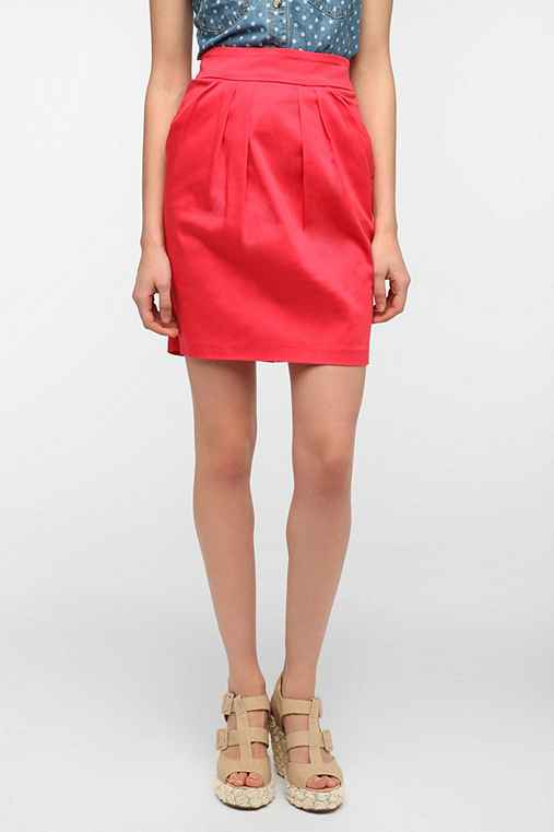 Pins And Needles Drop-Pocket Mini Tulip Skirt