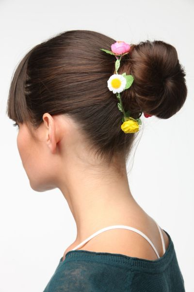 Flower Chain Bun Wrap