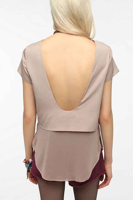 Sparkle & Fade Double Layer Scoop-Back Top