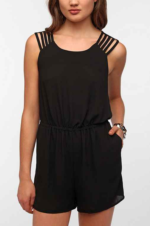 Sparkle & Fade Strappy Shoulder Romper