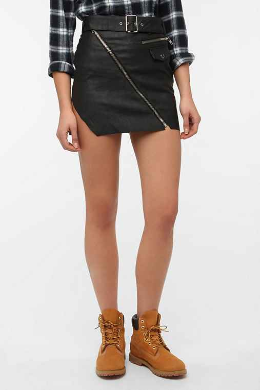UNIF Faux Leather Carnaby Skirt