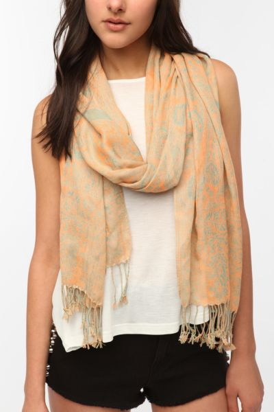 Pins And Needles Neon Paisley Scarf