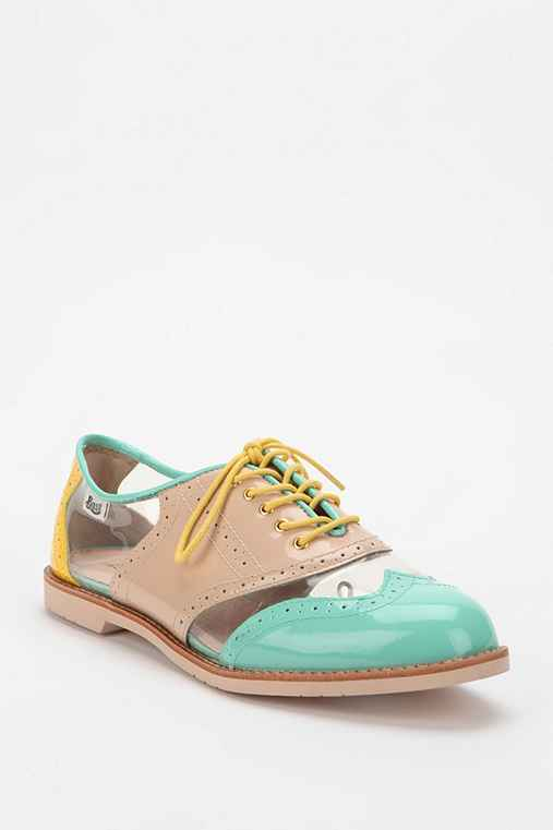 Rachel Antonoff X Bass Cutout Patent Leather Oxford
