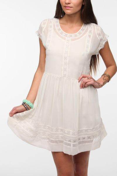 Thistlepearl Drop-Waist Chiffon Dress