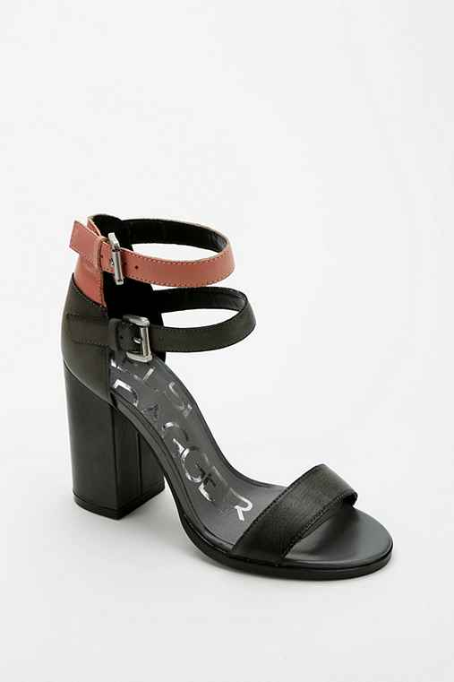 Kelsi Dagger Brooklyn Buckle-Strap Heeled Sandal