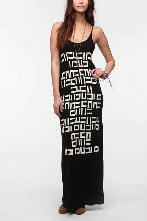 Mary Meyer Knit Spaghetti Maxi Dress