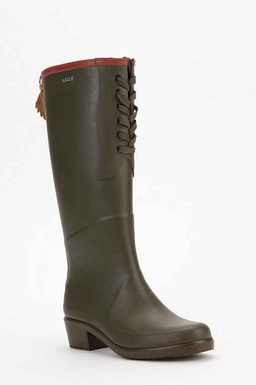 AIGLE Miss Juliette Lace-Up Rain Boot