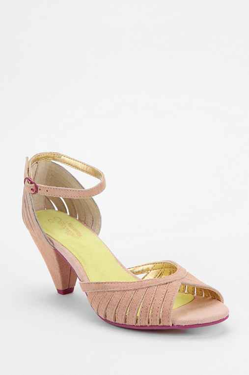 Seychelles Turn Cone Suede Heel: Nude 8 W shoes heelswedges