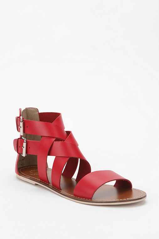 Ecote Double-Buckle Crisscross Sandal
