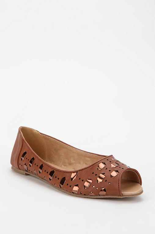 Ecote Interlace Peep-Toe Skimmer