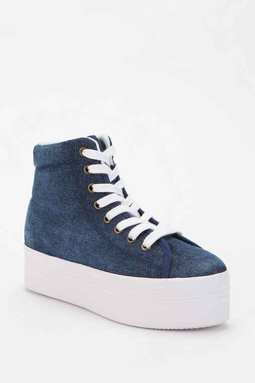 Jeffrey Campbell HOMG Denim High-Top Flatform-Sneaker