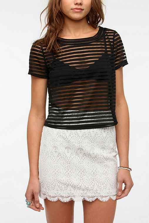 Cope Shadow Stripe Cropped Top