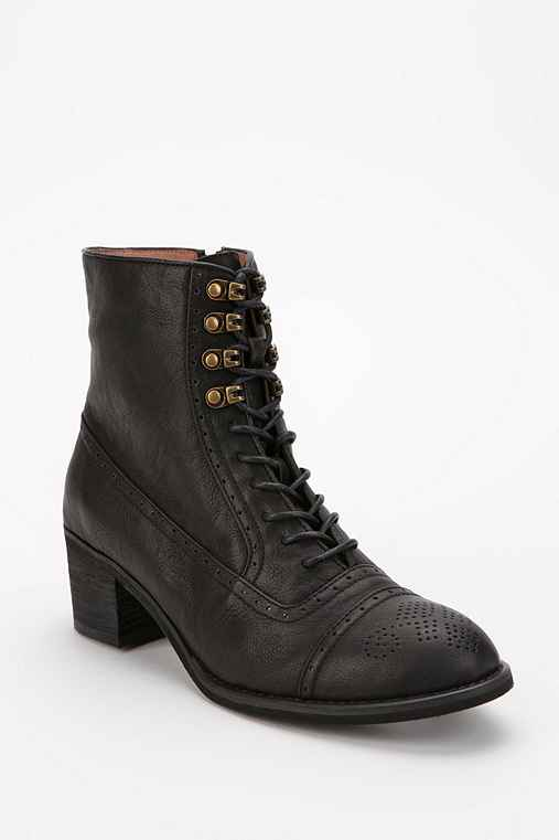 Jeffrey Campbell Mattie Lace-Up Brogue Boot