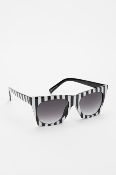 Quay Bold Stripe Cat-Eye Sunglasses