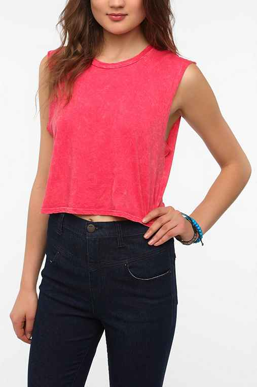 Truly Madly Deeply Mineralized Cropped Muscle Tee