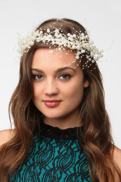 Cult Gaia Pearl Crown Headwrap