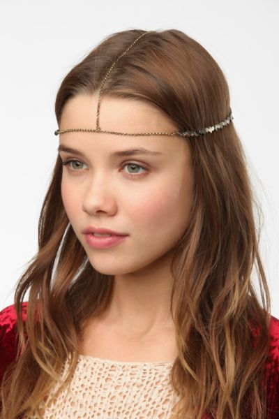 Metal Bead Goddess Chain Headwrap