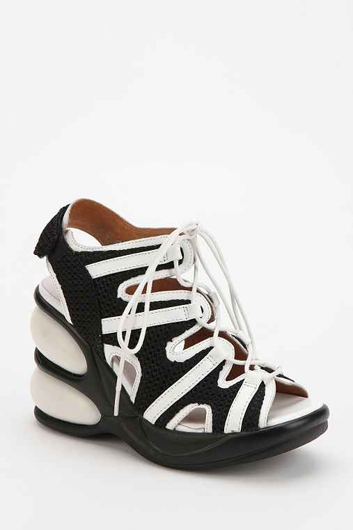 Jeffrey Campbell Enya Peep-Toe Platform Wedge