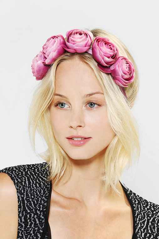 Large Flower Crown Headwrap