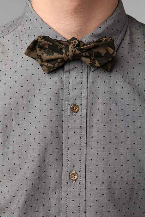 Reversible Camouflage Bow Tie