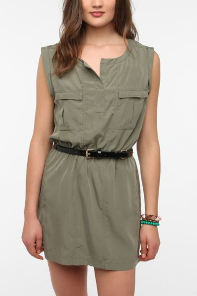 Silence + Noise Silky Marley Shirtdress