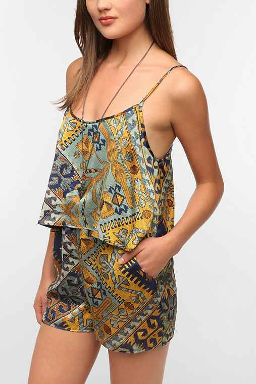 Staring At Stars Silky Double Layer Romper