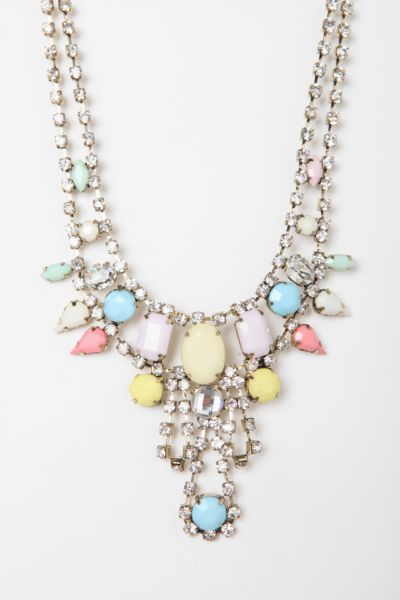 Kissimmee Rhinestone Bib Necklace