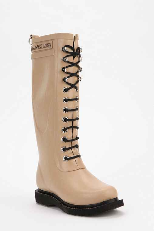 Ilse Jacobsen Tall Lace-Up Rain Boot