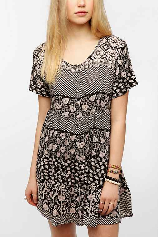 MINKPINK Button-Down Babydoll Dress