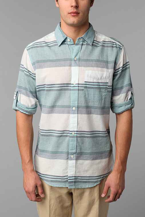 Hawkings McGill Aaron Striped Breezy Button Down Shirt