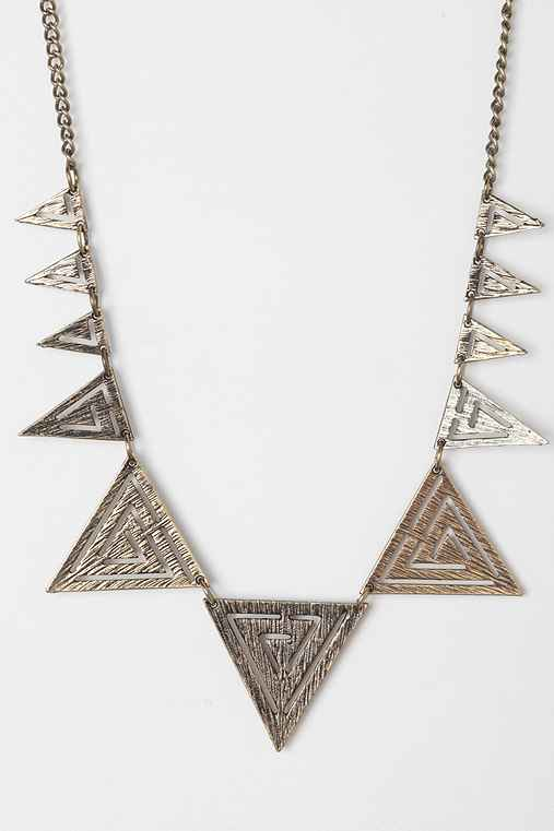 Laser Triangle Necklace