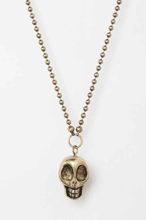 Skull Ball Chain Necklace