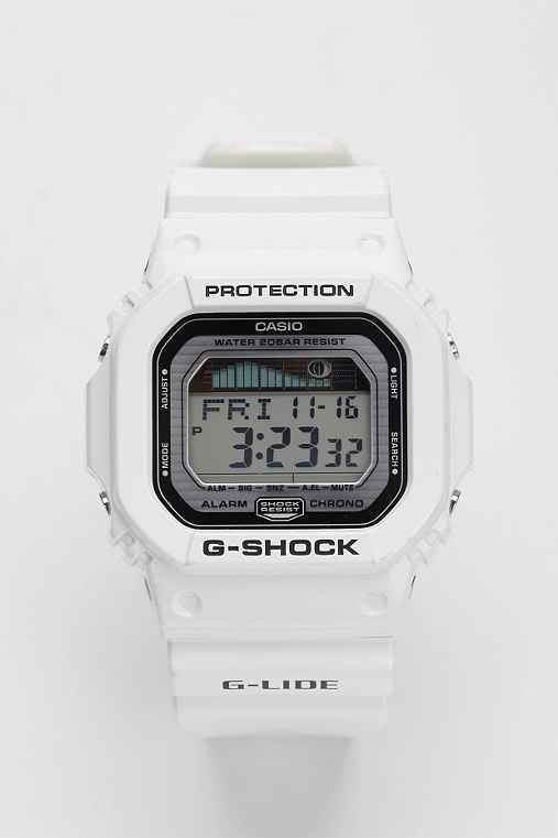 G-Shock White Glide Watch