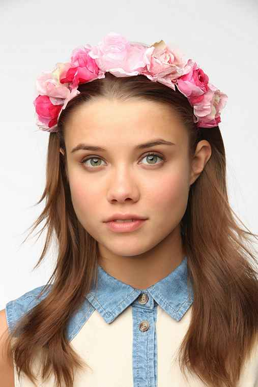 Rouge Pony Roses Flower Crown Headband
