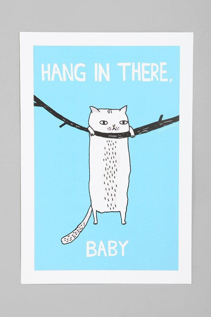 Gemma Correll For Society6 Hang In There Art Print - Urban Outfitters