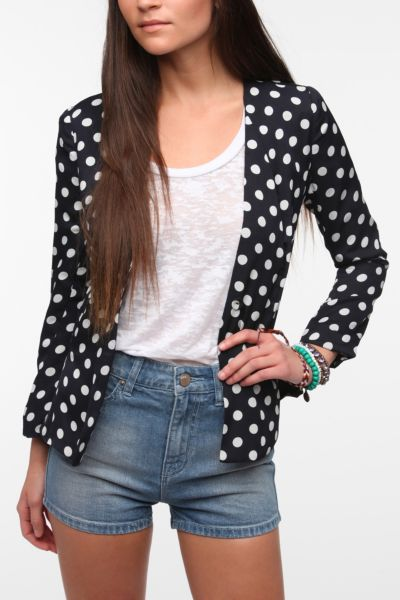 Pins And Needles Polka Dot Peplum Blazer