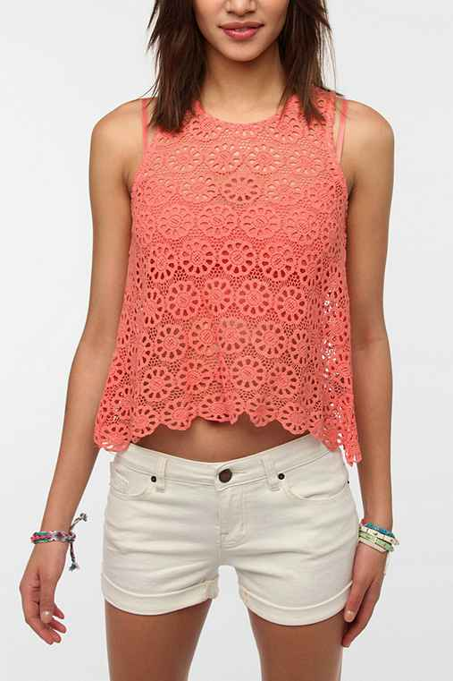 Pins And Needles Daisy Lace Swing Tank Top