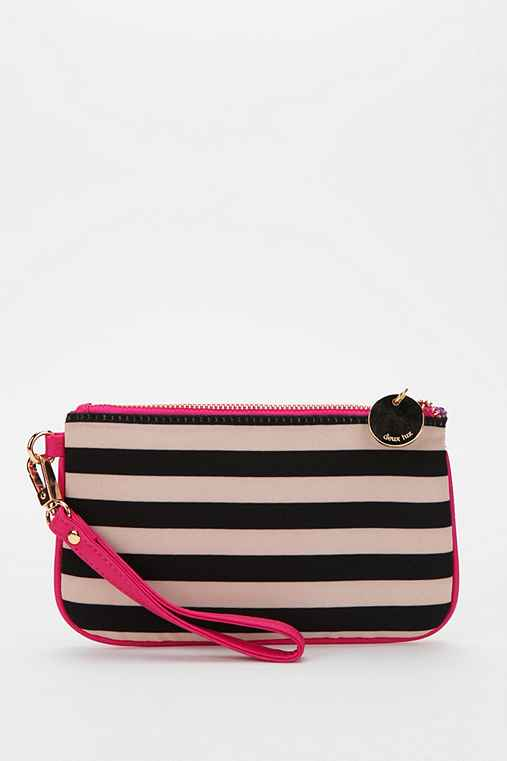 Deux Lux Striped Wristlet Zip-Pouch