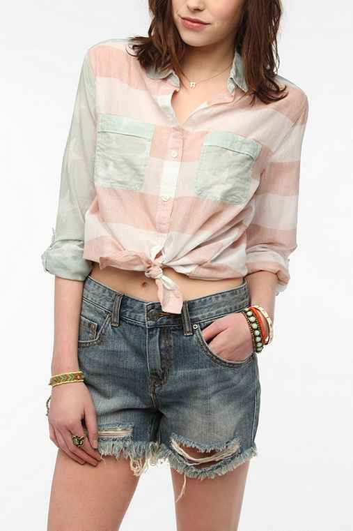 BDG Summertime Breezy Button-Down Shirt