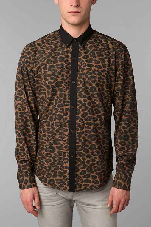 Your Neighbors Leopold Print Shirt