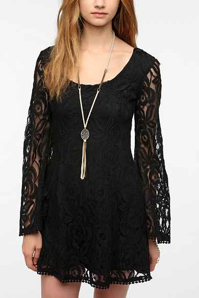 Staring At Stars Lace Bell-Sleeve Dress