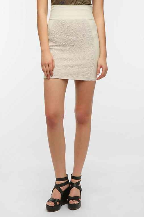 Silence + Noise High-Waist Textured Mini Skirt
