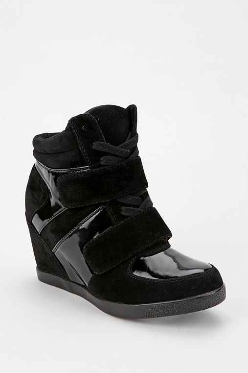 Wanted Mercer Patent Strap Wedge-Sneaker