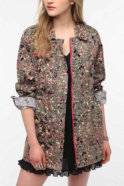 Numph Paint Splatter Surplus Jacket