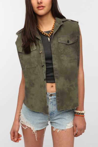 Urban Renewal Marble Military Vest