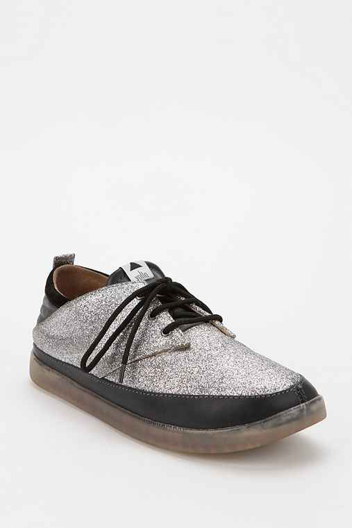 Volta Footwear Melody Glitter Lace-Up Sneaker