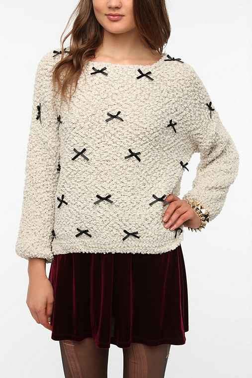 ina Little Bows Boucle Sweater